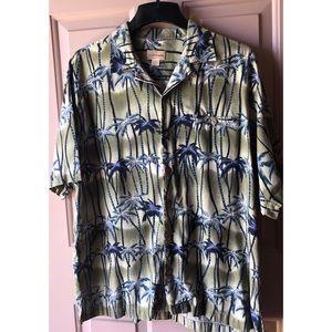 Island Paradise 100% Silk Hawaiian  Shirt #0311